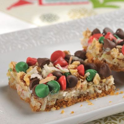 Yuletide Layer Bars.  This holiday treat is a real crowd pleaser. Take it to your next party and see how many people ask you for the recipe.
