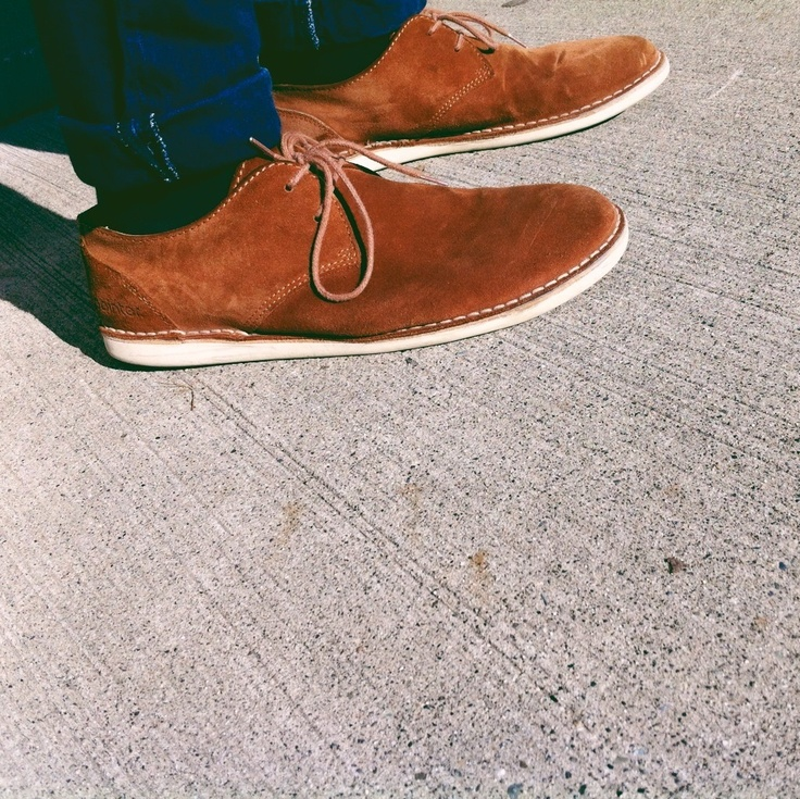 Pointer shoes. The deep rust is coo..