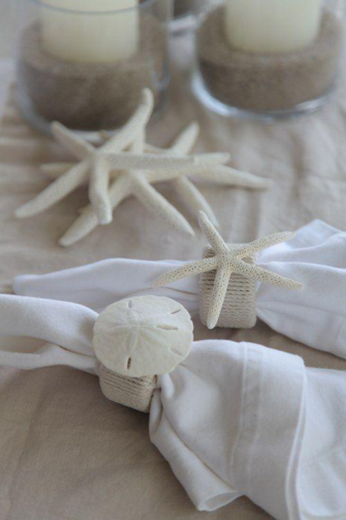 beachy napkin rings   http://www.designsponge.com/2011/07/diy-project-beachy-napkin-rings.html
