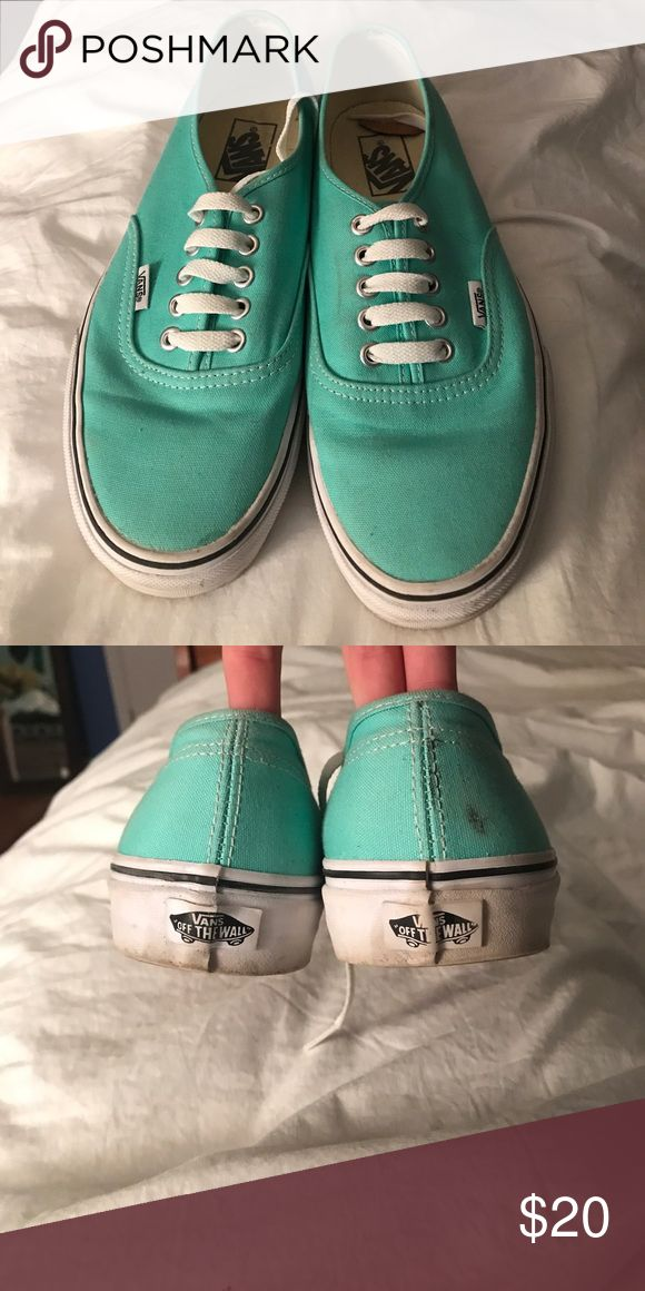 Tiffany Blue Vans Tiffany Blue Vans! Good condition. A few marks on the shoes but should come off if washed. Men's size 8.5 / women's size 10. Only worn a handful of times. Non-smoking home. Vans Shoes Sneakers