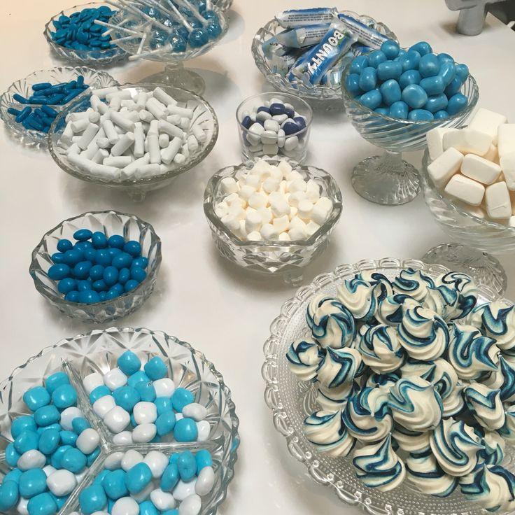 Kys-kager med blå striber #marengs #kyskager