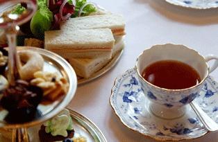 Afternoon tea at the Orangery at Kensington Palace, London, UK