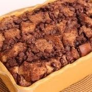 Chocolate Bread Pudding Recipe - Laura in the Kitchen - Internet Cooking Show Starring Laura Vitale