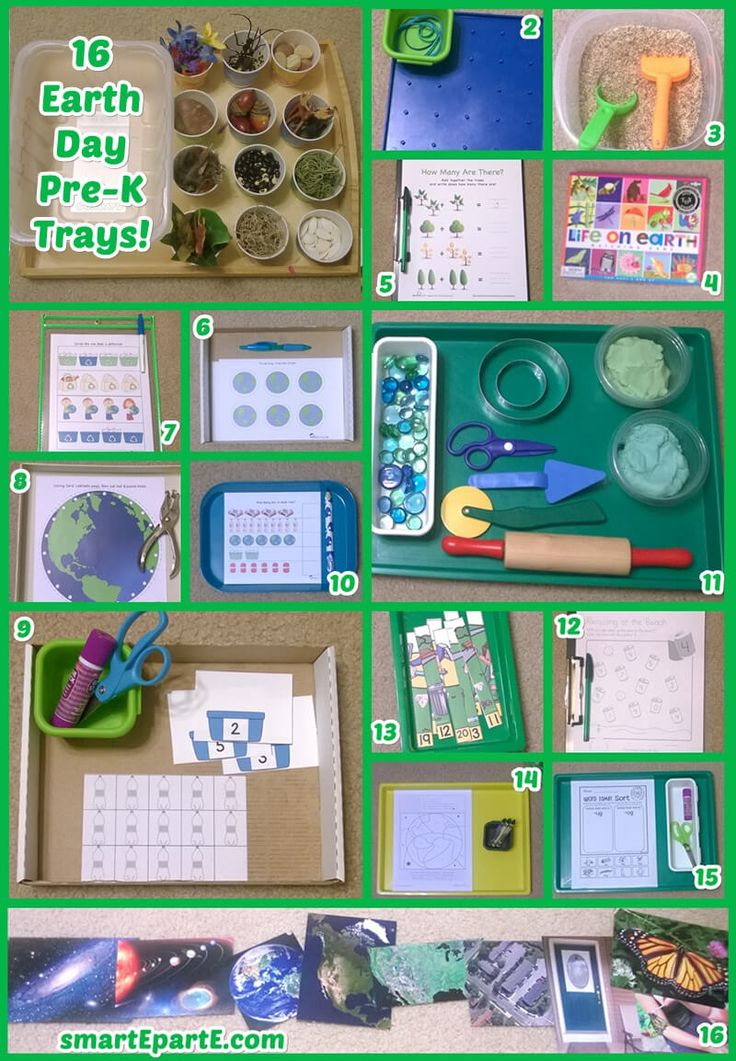 Help preschoolers appreciate the Earth with our 16 Earth Day Preschool Trays! We link out to some awesome printables, build a sensory bin, and play dough!