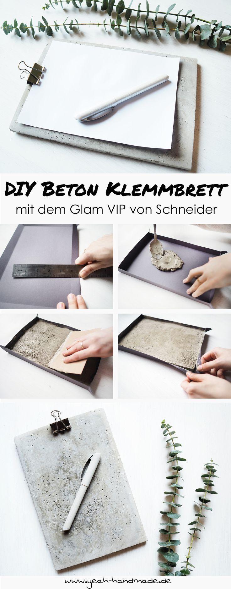 [Anzeige] DIY Klemmbrett aus Beton mit dem Glam VIP von Schneider
