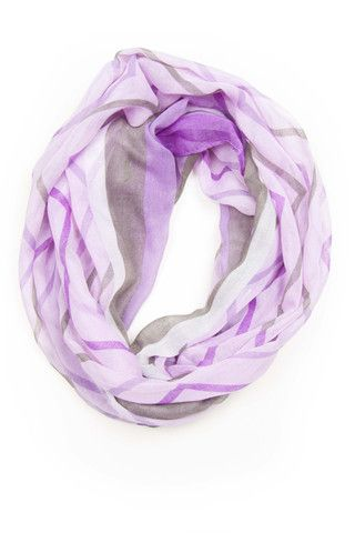 http://shop.necklush.com/collections/infinity-scarf-circle-spring-womens/products/purple-grey-infinity-scarf  Purple light purple white grey stripe infinity scarf, spring summer infinity scarf, circle scarf