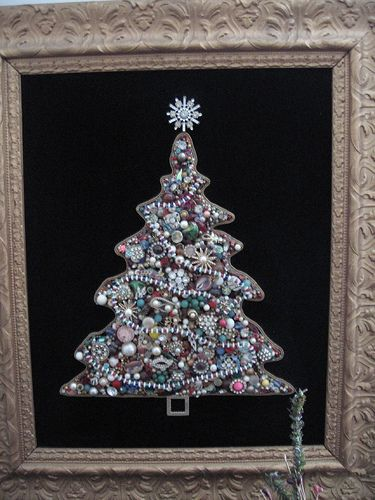 jewelry christmas tree. My Mom used to make these and I would like to give it a try.