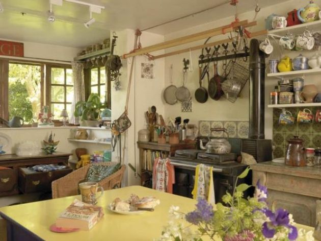 Ardyn Griffin's pretty Gloucestershire cottage was once a rather basic affair with no hot water and a corrugated roof on which goats used to roam. Photographs by Nick Yarsley