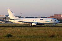 ASL Airlines Belgium Boeing 737-476(SF) OE-JAJ aircraft, skating at Germany Erfurt International Airport. 18/08/2016.