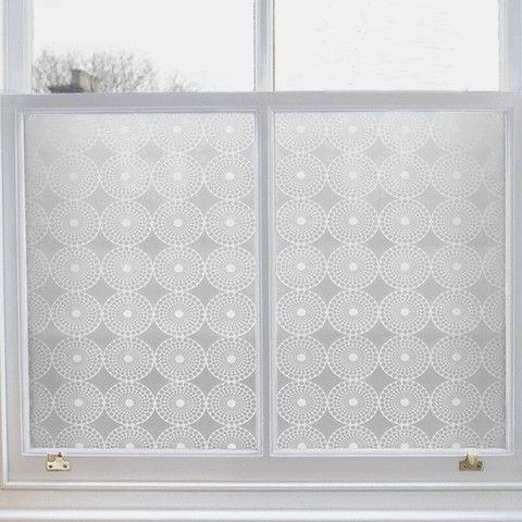 Modern Window Film in Pearl Design