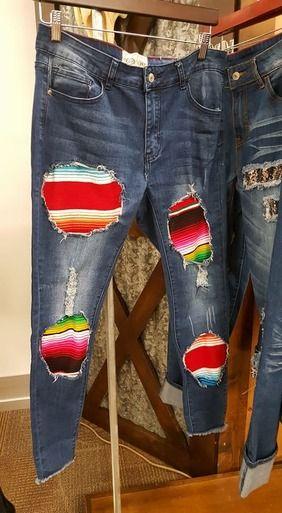 Serape Skinny Jeans (PRE-ORDER)