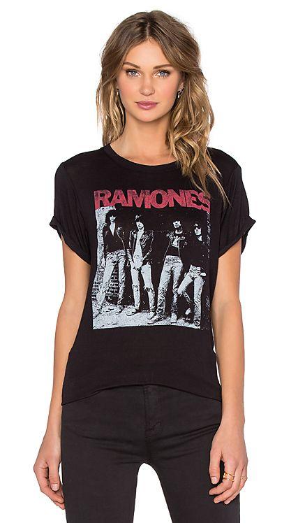 DAYDREAMER Ramones Rocket To Russia Tee in Black | REVOLVE
