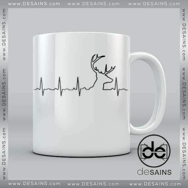 Cheap Coffee Mugs Deer Hunting Heartbeat on Sale //Price: $14 Gift Custom Tee Shirt Dress //     #Desains #Tees #Shirt #Dress
