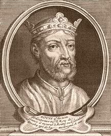Roi Louis V (Francie occidentale), carolingien. Il donna des preuves de courage et d'activité au siège de Reims et pendant la courte durée de son règne, il n'eut pas un seul instant de repos. Son père l'avait associé à la couronne, précaution fort sage que Lothaire avait d'autant plus de raison de prendre qu'il connaissait toute l'ambition de Hugues Capet.
