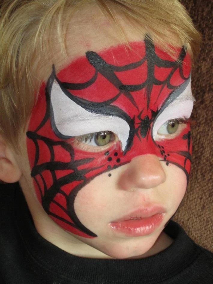Spiderman facepaint