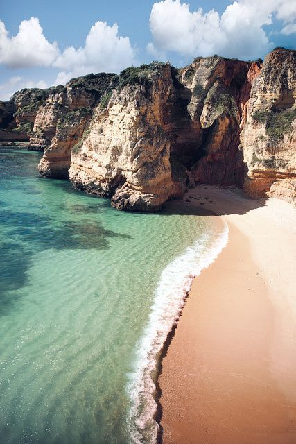 Portugal - The Algarve is alluring. Coastal Algarve receives much exposure for its breathtaking cliffs, golden beaches, scalloped bays and sandy islands. http:///www.lonelyplanet.com/portugal/the-algarve#ixzz3EocIteVz