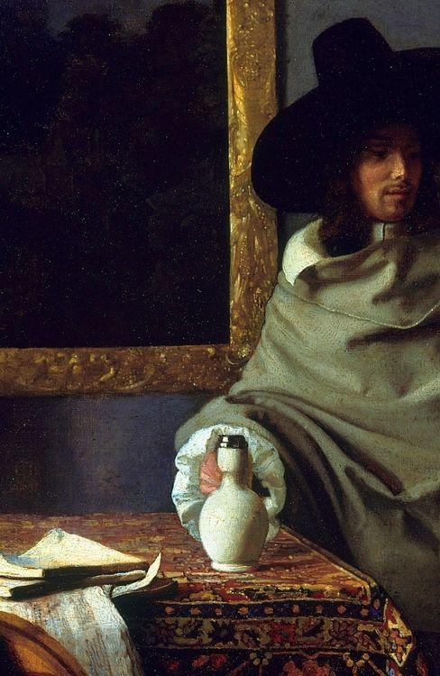 Johannes Vermeer - The Glass of Wine(detail), ca.1661,