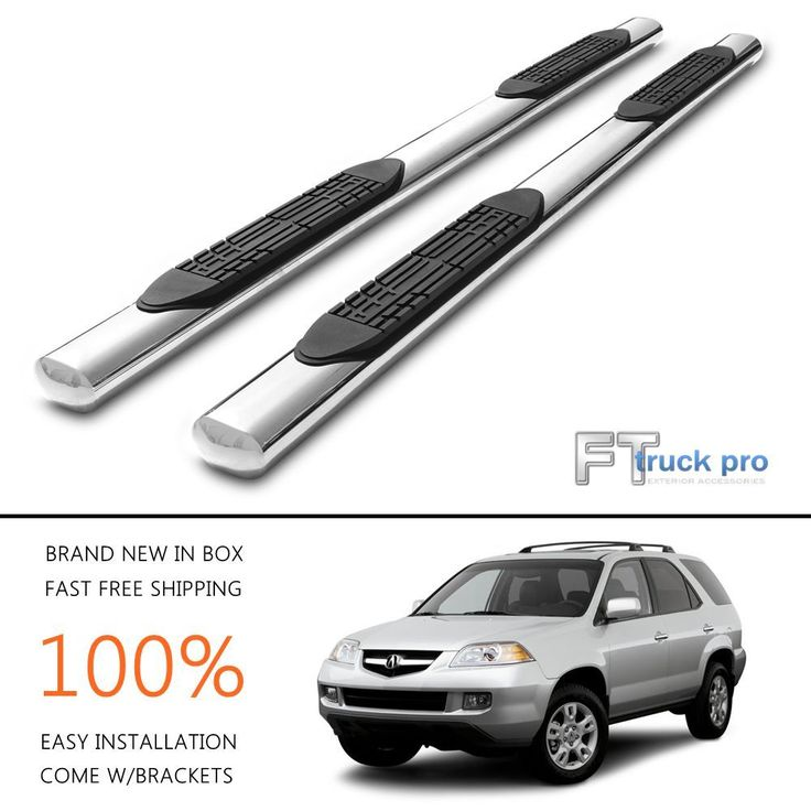 """4"""" OVAL nerf bars side steps running boards FOR 2001-2006 Acura MDX Stainless"""