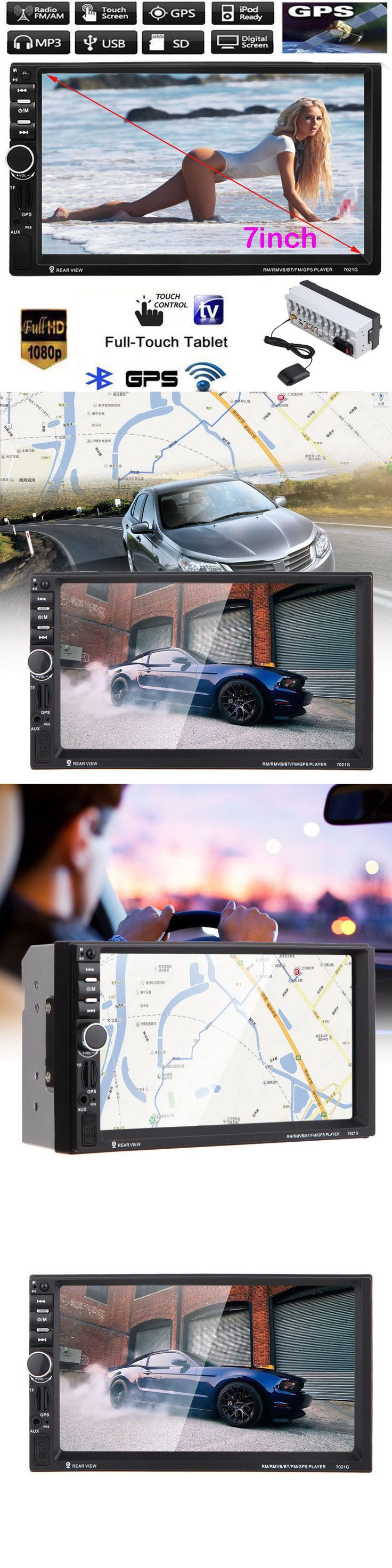 Vehicle Electronics And GPS: 7 Double 2Din Car Mp5 Mp3 Player Bluetooth Touchscreen Stereo Radio Usb/Aux Gps -> BUY IT NOW ONLY: $73.08 on eBay!