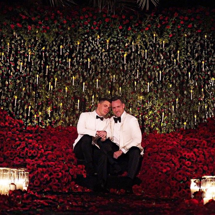 Colton Haynes and Jeff Leatham Couldn't Keep Their Hands Off of Each Other at Their Wedding