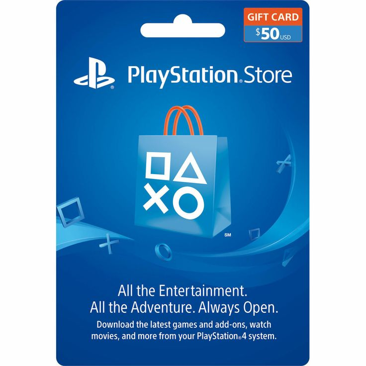 50 us playstation store psn gift card mail delivery only