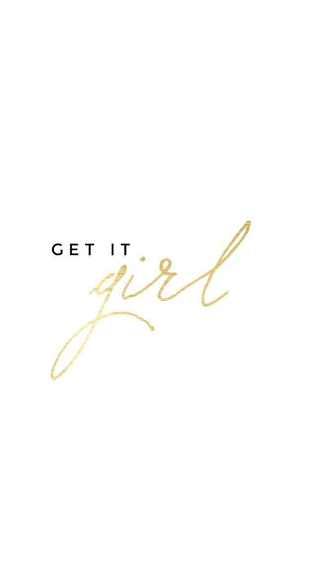 Minimal White gold Get it Girl iphone wallpaper phone background lockscreen #technology