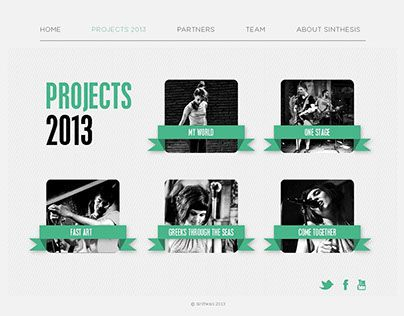 """Check out new work on my @Behance portfolio: """"Sinthesis.co.uk (Proposal)"""" http://on.be.net/XKWIMo"""