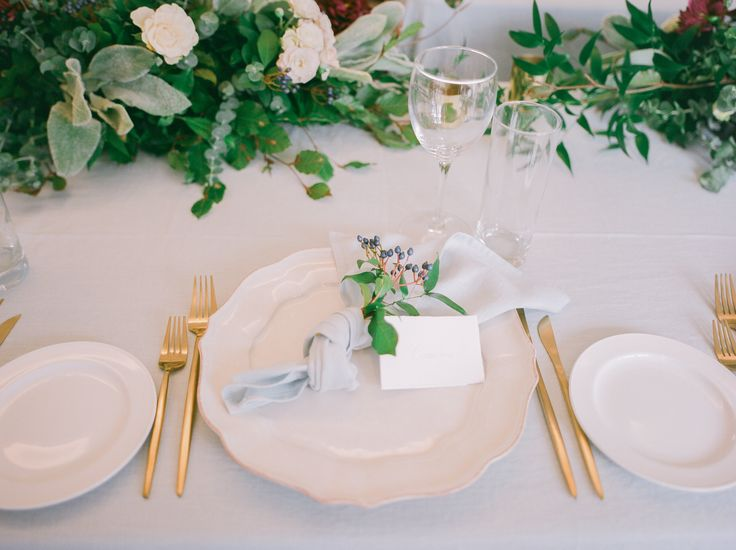 pale blue tablecloths and napkins, vintage brass taper candlesticks and brass tealight holders.... hire from The Pretty Prop Shop, Auckland, New Zealand.    www.theprettypropshop.co.nz    Styling by Oh! Such Style