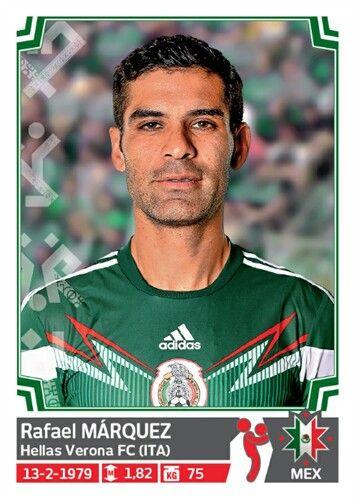 049 Rafael Márquez - Mexico - Copa America Chile 2015 - PANINI
