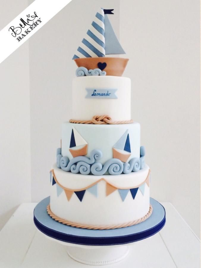 Nautical style cake