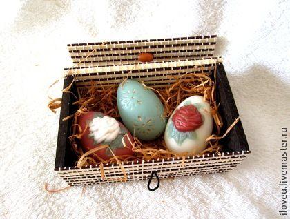 Подарки на Пасху ручной работы. Ярмарка Мастеров - ручная работа Пасхальный набор №3, мыло, пасхальные яйца, подарок на Пасху, к Пасхе. Handmade.