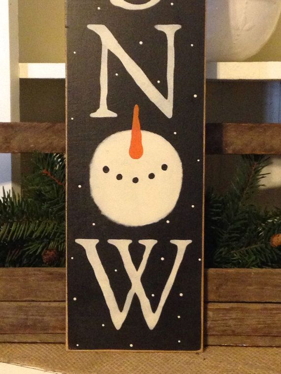 Snowman SignWinter SignSnow SignPrimitive by DaisyPatchPrimitives