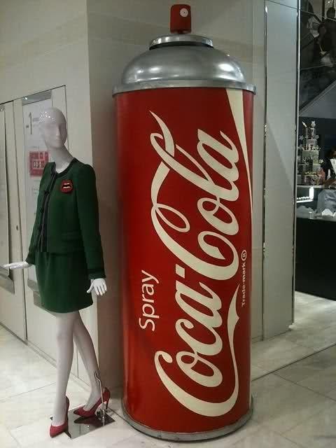 Coca-Cola spray. Refreshing! Zippertravel.com Digital Edition