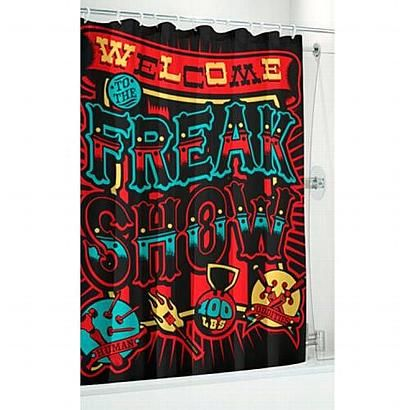 Circus Side Show Shower Curtain