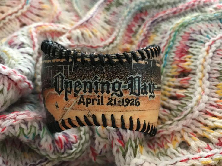 Chicago Cubs Opening Day 1926 Baseball Cuff Bracelet by deniseandkimdesigns on Etsy