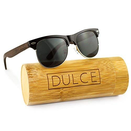 d3ff405d6f Dulce Polarized Sunglasses By Handmade Clubmaster Rose Wooden Sunglasses  UAV UAB Protective with Bamboo Sunglasses Case