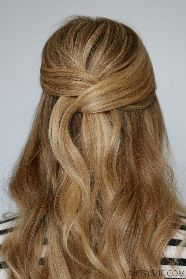 Easy Wrapped Half Up Style