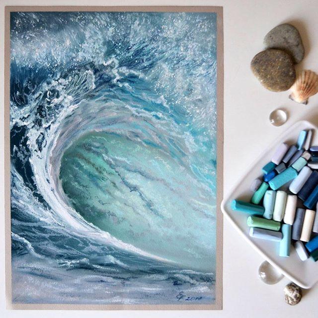 soft pastel сухая пастель море картина пастелью drawing painting