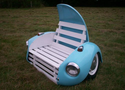 VW Beetle Garden Bench.......