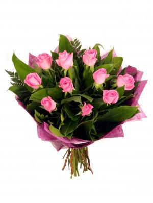 Pink Rose Bouquet - Donvale Flower Gallery