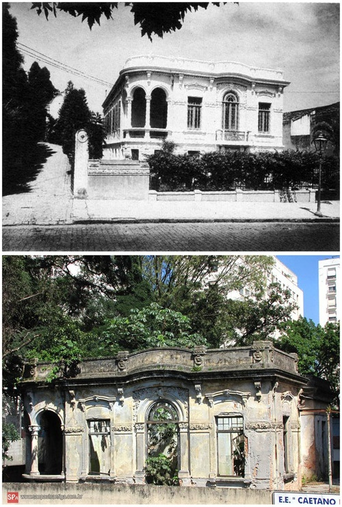 A school in Sao Paulo early 20 Century and present.
