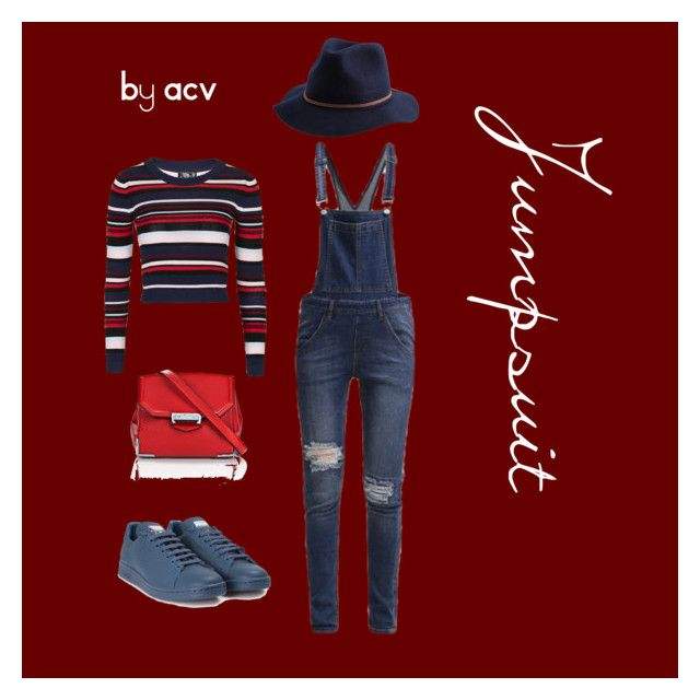 """Jumpsuit"" by amparo-calbacho on Polyvore featuring moda, Cheap Monday, Topshop, Brixton, adidas y Alexander Wang"
