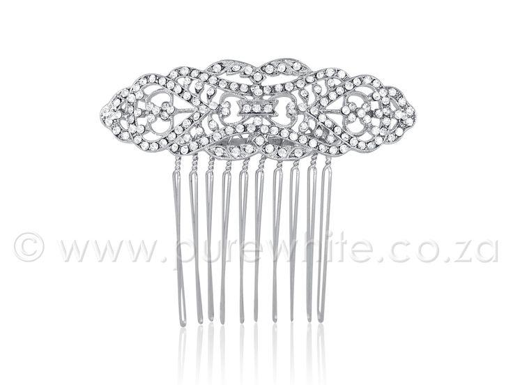 PURE WHITE - Rhinestone Side-Accent Haircomb 5-026, $26.25 (http://www.purewhite.co.za/rhinestone-side-accent-haircomb-5-026/)