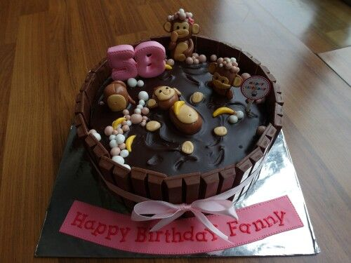 Swimming monkey by Delines cake