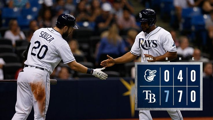 Tampa Bay Rays claim a one-sided contest against the Baltimore Orioles - https://twitter.com/RaysBaseball/status/913960304362520577