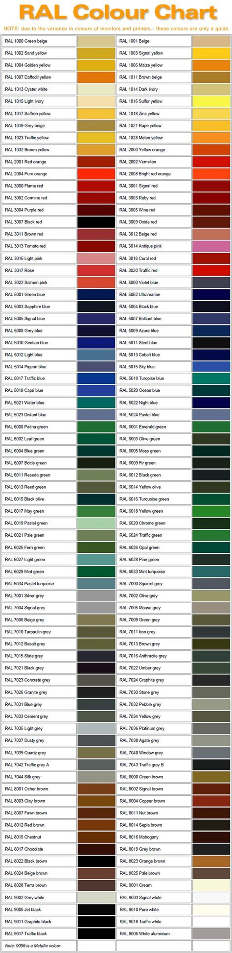 best 25  ral color chart ideas on pinterest