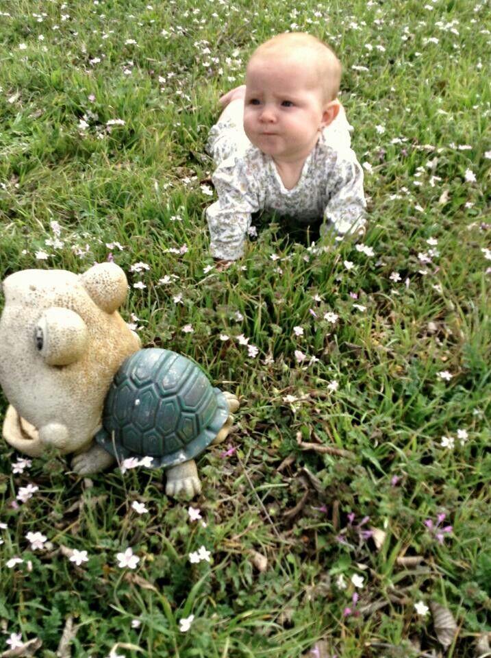 Spring crawling baby pic