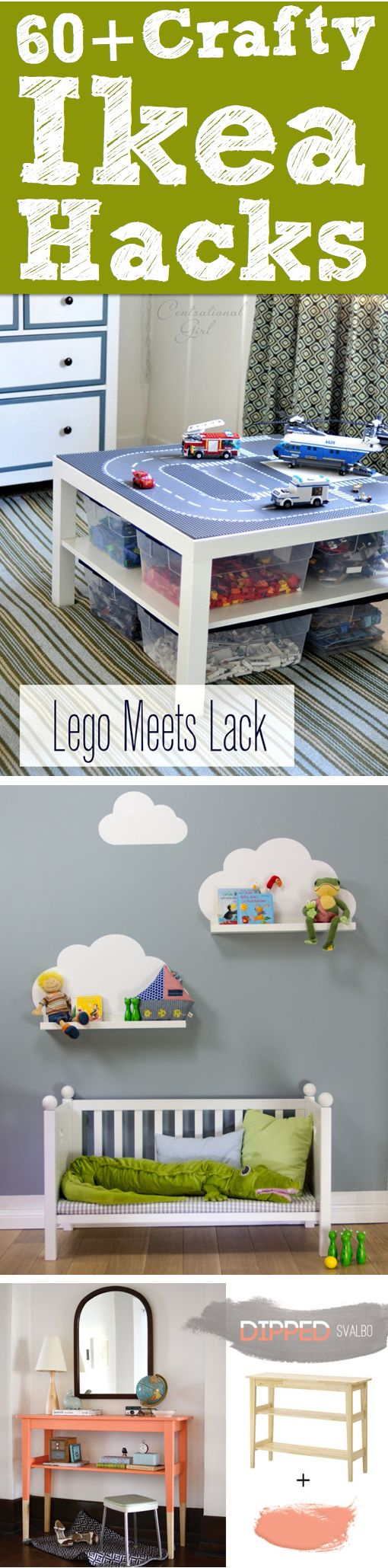 Regal mit gemalter Wolke 60+ Crafty Ikea Hacks To Help You Save Time And Money!