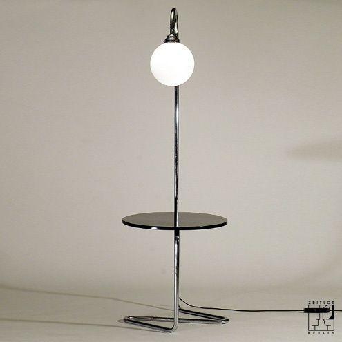 Tubular steel arc lamp in Bauhaus design - ZEITLOS – BERLIN