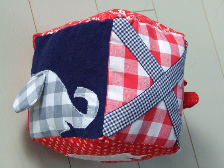 speel kubus voor baby, babyspeelgoed soft babytoy fabric